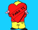 Regalo en forma de corazón