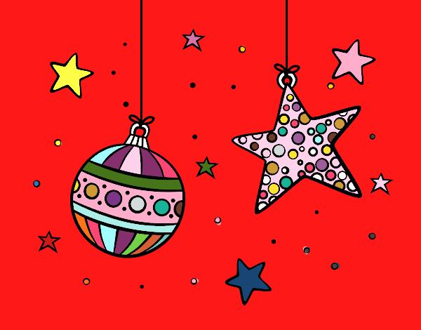 Dibujo de adornos de navidad pintado por en el for Dibujos de navidad pintados