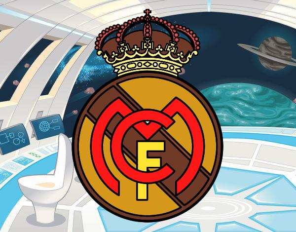 Dibujos Para Colorear Del Real Madrid Para Imprimir: Real Madrid Colorear Escudo Del Real Madrid