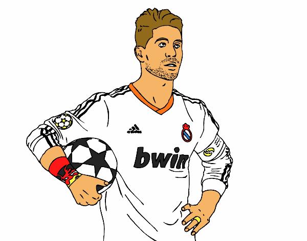 Dibujos Del Real Madrid Para Imprimir Y Colorear: Colorear Real Madrid. Dibujo De Nioftbol. Free Cristiano