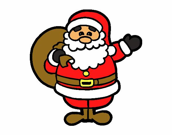 Dibujos De Papa Noel En Color Para Imprimir: Dibujo De Un Papá Noel Pintado Por En Dibujos.net El Día