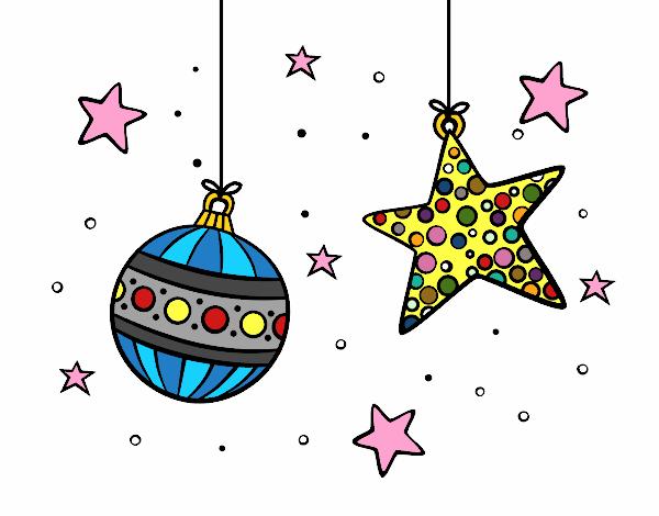 dibujo de adornos de navidad pintado por en el