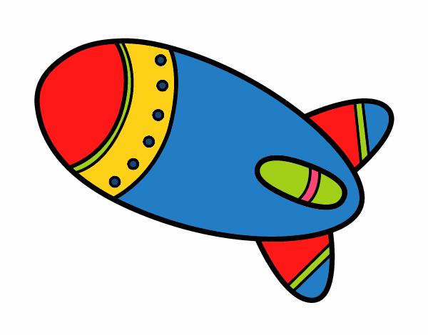 Cohete De Espacio De Dibujos: Dibujo De Cohete En El Espacio Pintado Por Nairim1924 En