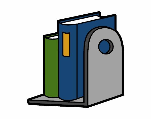 Dibujo de estanter a con libros pintado por en - Dibujos de estanterias ...