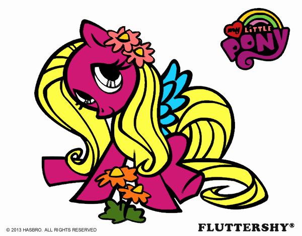 Dibujo De Fluttershy Para Colorear: Dibujo De Fluttershy Pintado Por En Dibujos.net El Día 11