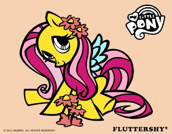 Dibujo De Fluttershy Para Colorear: Dibujo De Fluttershy Pintado Por Lula1096 En Dibujos.net