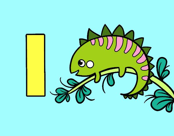 Dibujo de I de Iguana pintado por Lucia26 en Dibujosnet el da 11