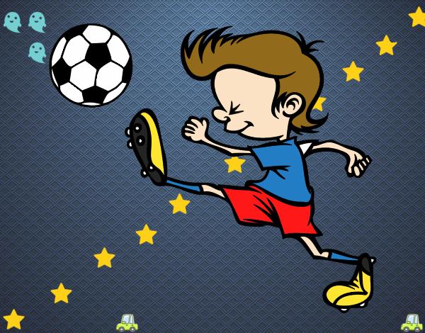Dibujo De Jugador De Fútbol Con Balón Pintado Por Chicoxd: Dibujo De Jugador Chutando Pintado Por En Dibujos.net El