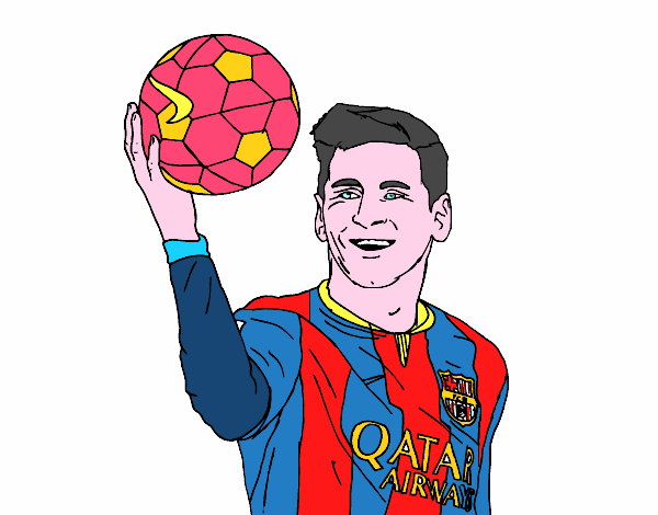 Dibujo de Messi el MEJOR de la historia pintado por en Dibujos