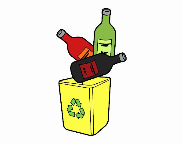 Botella De Cerveza Dibujo: Dibujo De Reciclaje De Botellas De Refresco Pintado Por En