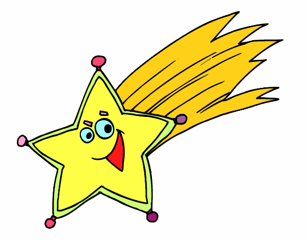 Estrella Fugaz Navidad Of Dibujo De La Estrella De Los Reyes Magos Pintado Por En