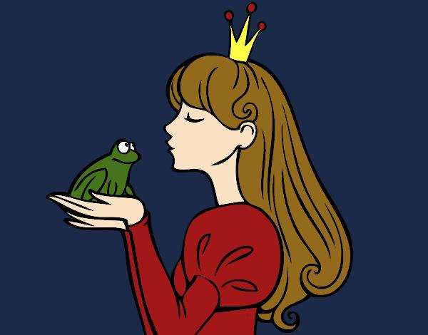 Dibujo La princesa y la rana pintado por MariamAmin