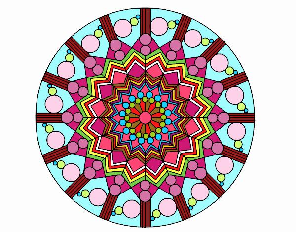 Dibujo De Manda De 7 Colores Pintado Por En Dibujos.net El
