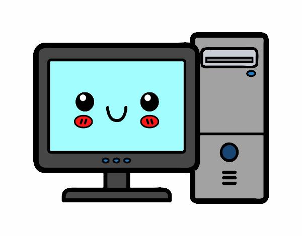 Pin Dibujo De Computadora Viejita Escritorio Para Pintar Y