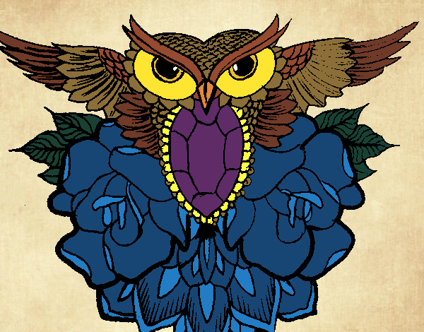 Dibujo Símbolo búho pintado por MariamAmin