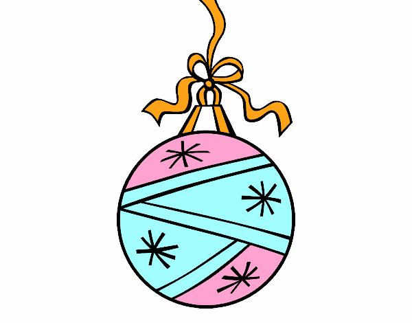 Dibujo de una bola de navidad pintado por en for Dibujo bola navidad