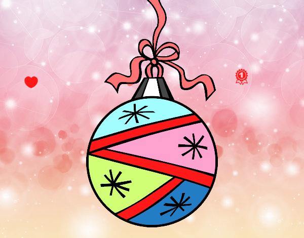 Dibujo de esfera de navidad pintado por en el for Dibujos de navidad pintados