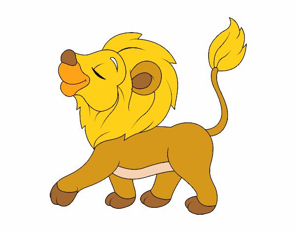 Dibujo De Cachorro De León Para Colorear: Dibujo De Cachorro De León Pintado Por Serallimk En