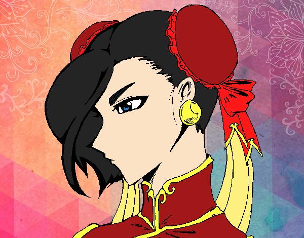 Dibujo Chun-Li pintado por MariamAmin