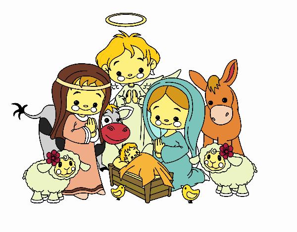 Dibujos del nacimiento de jesus para colorear holidays oo - Dibujos de nacimientos de navidad ...
