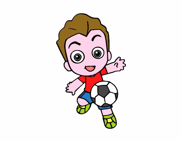 Dibujo De Futbol Pintado Por Maarta En Dibujos Net El Día: Dibujo De Jugando A Fútbol Pintado Por En Dibujos.net El