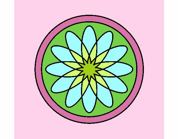 34 Mandalas Para Imprimir Y Colorear: Dibujo De Mandala 34 Pintado Por En Dibujos.net El Día 22
