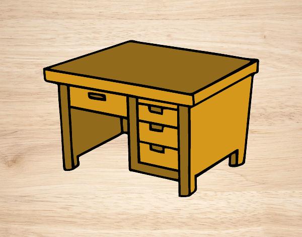 Image gallery dibujo escritorio for Cuarto para colorear