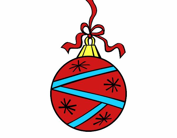 Dibujo de esfera navide a pintado por en el for Dibujos de navidad bolas