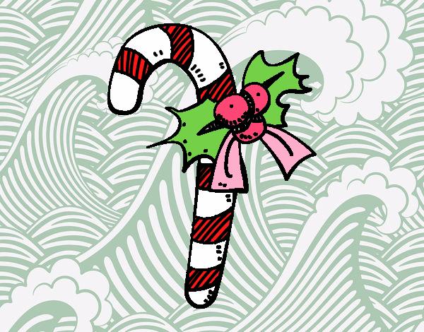 Dibujo de Bastón de caramelo de Navidad pintado por Lucia626 en ...