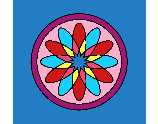 34 Mandalas Para Imprimir Y Colorear: Dibujo De Mandala 34 Pintado Por En Dibujos.net El Día 06