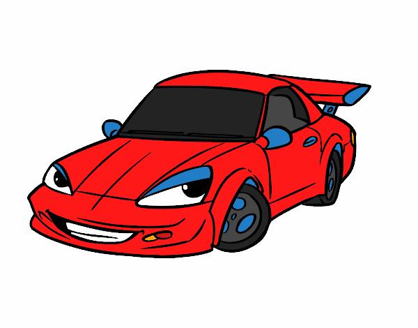 Dibujos De Coches Deportivos Para Colorear: Dibujo Para Colorear Coche Deportivo Img 27169