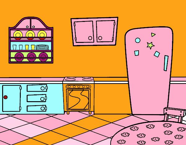 Dibujo de cocina office pintado por yurachan en dibujos for Dibujos de cocina