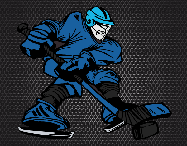 Dibujos Para Colorear Jugador De Hockey: Dibujo De Jugador De Hockey Profesional Pintado Por En