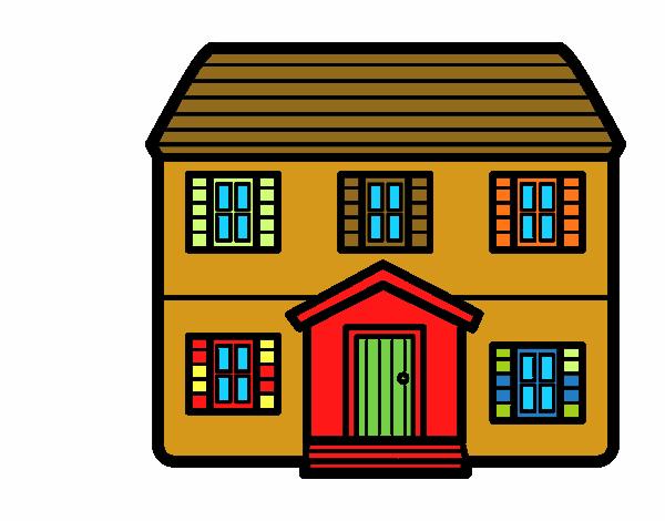 Dibujo De Casa Unifamiliar Para Colorear Dibujos Net  Garden