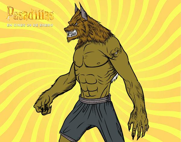 Dibujo de El hombre Lobo pintado por Guilletrs en Dibujosnet el
