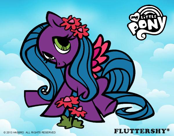 Dibujo De Fluttershy Para Colorear: Dibujo De Fluttershy Pintado Por En Dibujos.net El Día 22