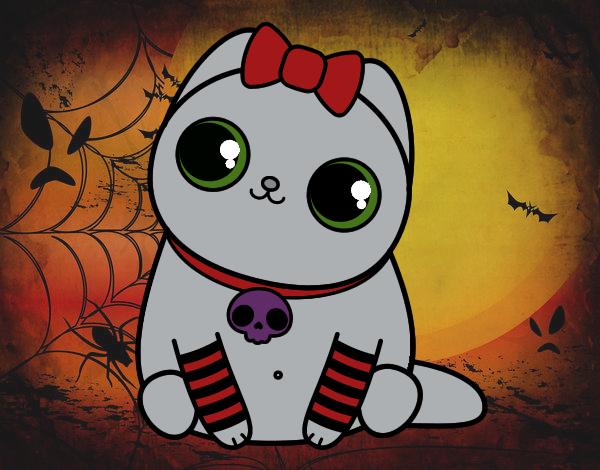 Dibujo Gatito emo pintado por MariamAmin