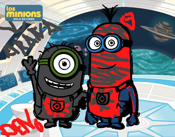 Dibujo de Minions - Carl y Kevin pintado por en Dibujos ...