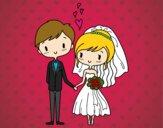Dibujo Novios muy enamorados pintado por Jons390