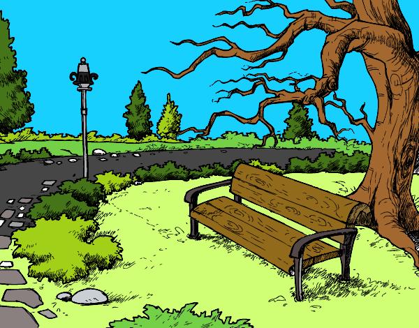 Dibujos Para Colorear De Un Paisaje: Dibujo De Paisaje De Parque Pintado Por Guilletrs En