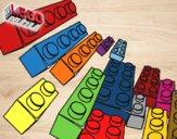 Dibujo Piezas Lego pintado por Osobal