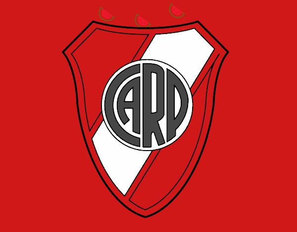 Dibujo de Escudo Atlético River Plate pintado por en ...