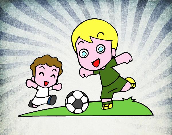 Dibujo De Futbol Pintado Por Maarta En Dibujos Net El Día: Dibujo De Fútbol En El Recreo Pintado Por Cadizmar En