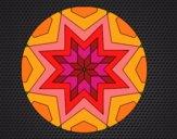 Dibujo Mandala mosaico estrella pintado por Guilletrs