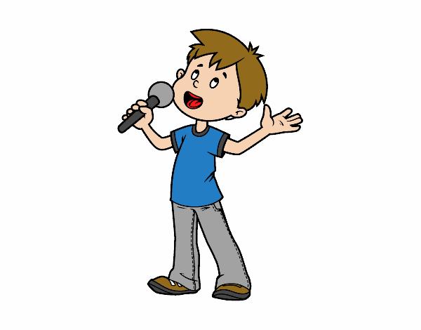 Dibujo Niño Cantando