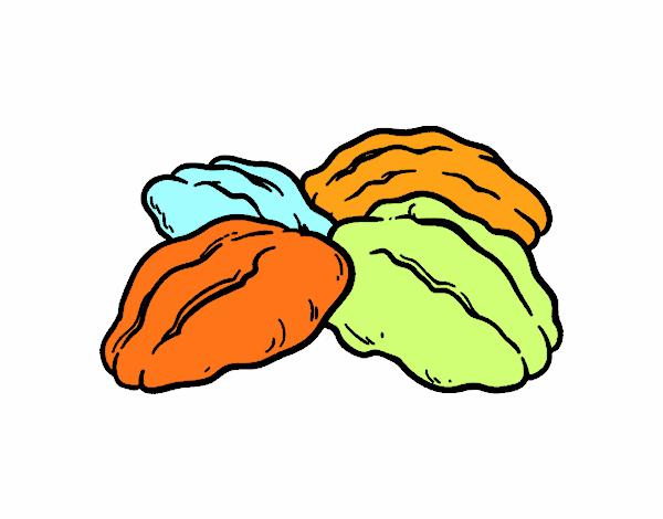 Dibujo de Nueces pintado por en Dibujosnet el da 040216 a las