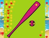 Bate y bola de béisbol