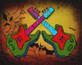 Dibujo Guitarras eléctricas pintado por vale22