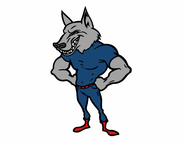 Dibujo De Hombre Lobo Para Colorear: Dibujo De Hombre Lobo Robusto Pintado Por En Dibujos.net