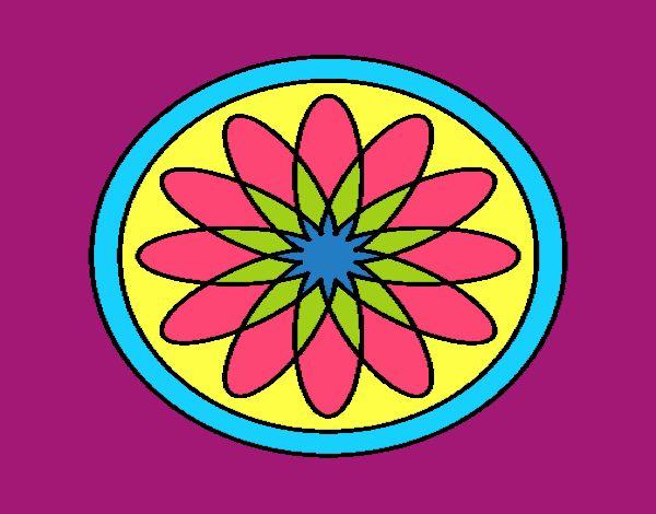 34 Mandalas Para Imprimir Y Colorear: Dibujo De Mandala 34 Pintado Por En Dibujos.net El Día 14